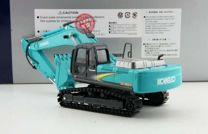 1/43 Scale Kobelco SK350D Excavator Diecast Model Metal Crawler, Kobelco Construction Equipment Model, construction machines Model, Excavator scale model.