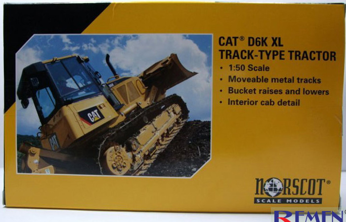 Norscot 55192 Caterpillar CAT D6K XL Track-Type Tractor Diecast Model, Construction Machinery Static model, Rescue Truck finished model, display model.