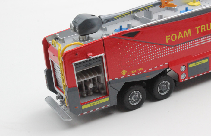Scale Model, 1/50 Scale BENZ ACTROS Foam Truck Diecast Model, Fire truck Static model, Rescue Truck finished model, Foam Truck display model.