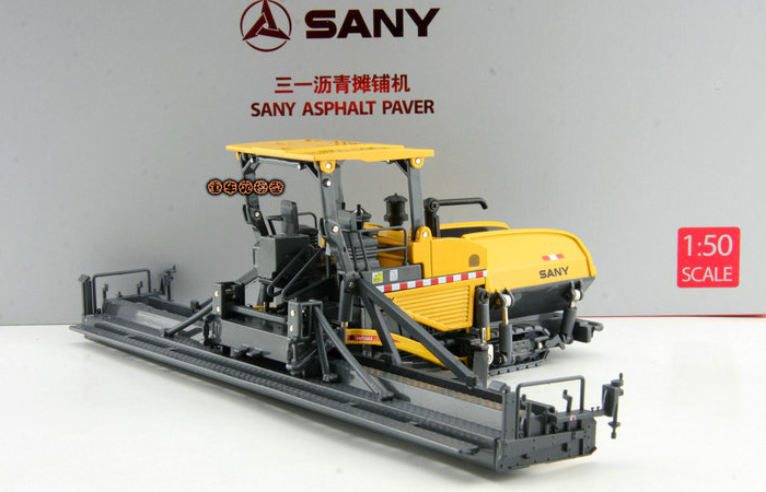 1/50 Scale Model SANY Asphalt Paver Original Diecast Model, Construction Machinery, Construction vehicles, Static Model, Finished model