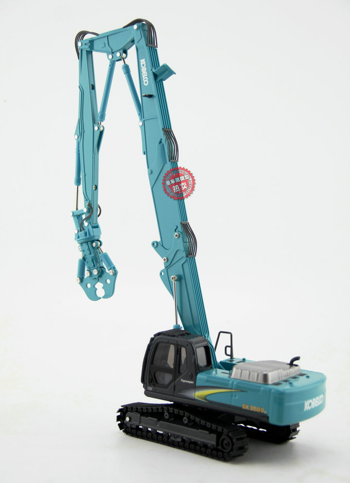 1/43 Scale Kobelco SK350D LC long boom demolition machine Diecast Model, Kobelco Construction Equipment Model, construction machines Model