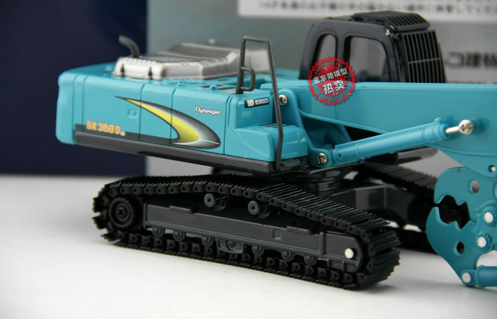 1/43 Scale Kobelco SK350D LC long boom demolition machine Diecast Model, Kobelco Construction Equipment Model, construction machines Model .