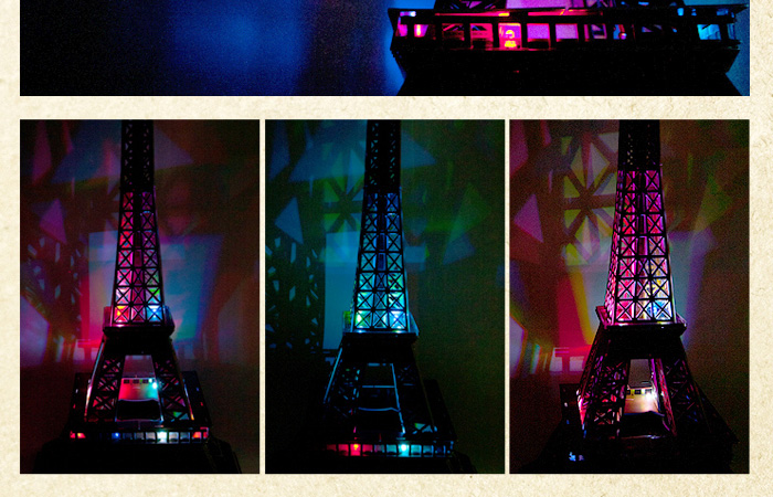 Cubicfun 3D Paper Puzzle L091H Paris Eiffel Tower Paper Model Kit, Paper Toys.