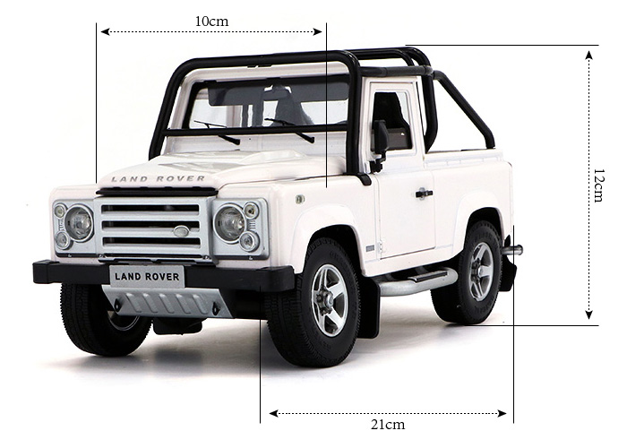 1/18 Scale Model Car Truck, Land-Rover Defender SVX Zinc Alloy Diecast Model.