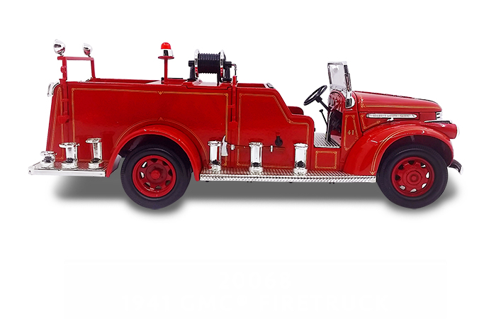 1/24 Scale Truck Diecast Model Lucky-Diecast 20068, 1941 GMC FIRE TRUCK FIRE ENGINE Collection.