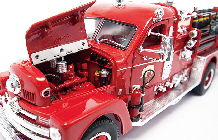 1/24 Scale Truck Diecast Model Lucky-Diecast 20168, 1958 SEAGRAVE MODEL 750 Fire Engine Collection.