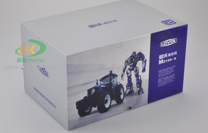 Original Diecast Model Four Wheeled Tractor, Foton LOVOL Tractor Model For sale.