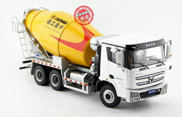 1/24 Scale Model XCMG Hanvan Heavy Truck Concrete Mixer Truck Diecast Model, Zinc Alloy Model Toy.
