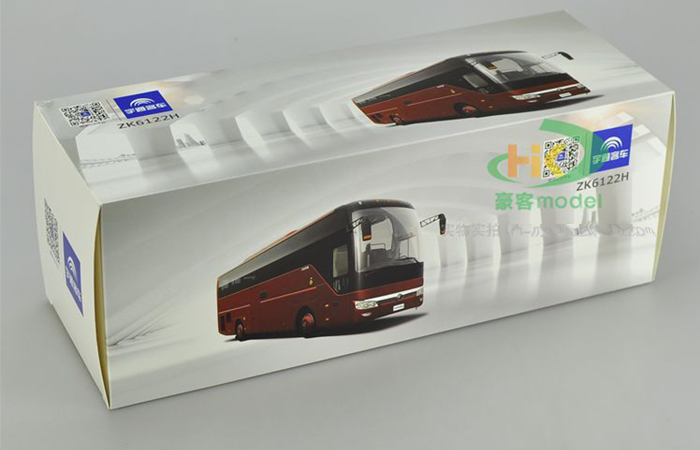 1/24 Scale Model YuTong Buses ZK6122H9 Original Diecast Model Bus, Metal Scale Model Car, Gifts, Toys, Collectibles, Display Model, Static Model.