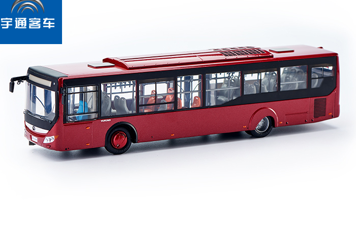 1/24 Scale Model YuTong Buses ZK6128 Original Diecast Model Bus, Metal Scale Model Car, Gifts, Toys, Collectibles, Display Model, Static Model.
