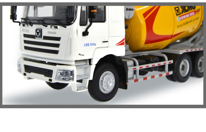1/35 Scale Model XCMG Hanvan Heavy Truck Schwing Concrete Mixer Truck Diecast Model.