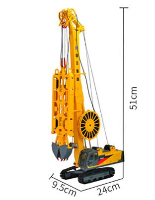 1/35 Scale Model XCMG XG450D Diaphragm Wall Hydraulic Grab, Engineering Machinery Diecast Model.