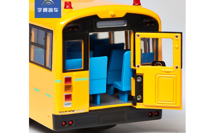 1/42 Scale Model YuTong ZK6109DX School Bus Original Diecast Model Bus, Metal Scale Model Car, Gifts, Toys, Collectibles, Display Model, Static Model.
