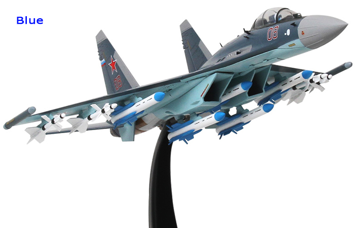 1/48 Scale Modern Military Aircraft Model, Russia SU-35 Jet Fighter Diecast Model.