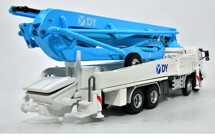 1/50 Scale Model DY Benz Actros-3340 Concrete Pump Truck, Engineering Machinery Diecast Model.