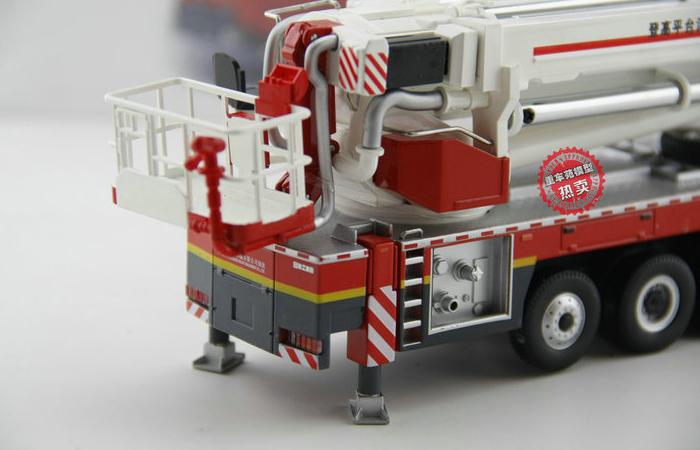 1/50 Scale Model Mercedes-Benz Truck XCMG DG100 Aerial Platform Fire Truck Diecast Model.