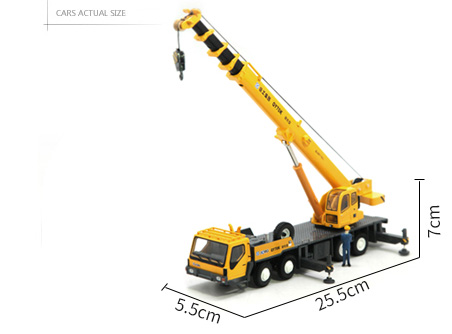 1/50 Scale Model XCMG QY70K Full Hydraulic Truck Crane Diecast Model, Zinc Alloy Model Toy.
