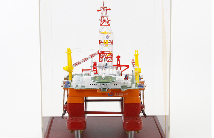 1/700 Scale Model CNOOC 981 Deepwater Semi-Submersible Drilling Platform Diecast Model.
