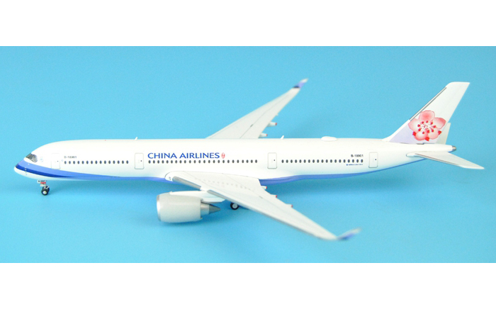 1/400 Model Airplane JC-Wings CI401054 China Airlines Airbus A350-900 B-18901 Aircraft Diecast Model Collectibles, Scale Model, Metal Model Plane.