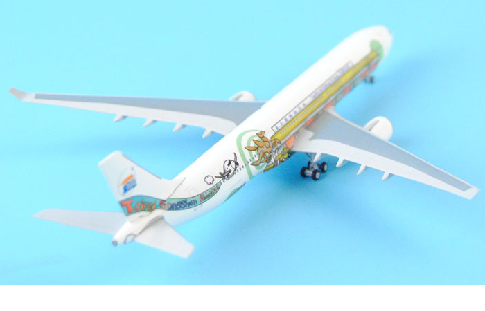 1/400 Model Airplane JC-Wings TS400016 Taipei Songshan Airport Airbus A330-300 Aircraft Diecast Model Collectibles, Scale Model.