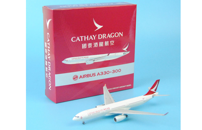 1/400 Model Airplane JC-Wings XX4002 Cathay Dragon Air Airbus A330-300 B-HYQ Aircraft Diecast Model Collectibles, Scale Model.