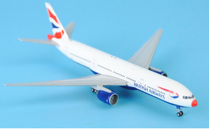 1/400 Model Airplane JC-Wings XX4003 British Airways Boeing B777-200ER G-YMME (Red Nose) Aircraft Diecast Model Collectibles, Scale Model.