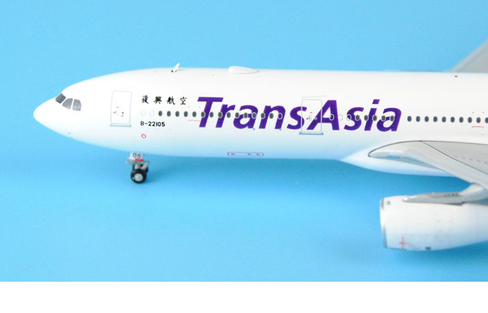 1/400 Model Airplane JC-Wings XX4304 Taiwan TransAsia Airways Airbus A330-300 B-22105 Aircraft Diecast Model Collectibles, Scale Model.