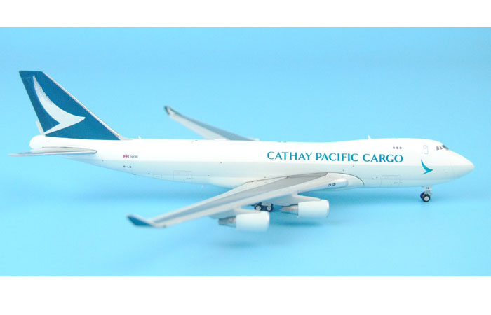 1/400 Model Airplane JC-Wings XX4309 Cathay Pacific Cargo Airways Boeing B747-400F B-LIA Aircraft Diecast Model Collectibles, Scale Model, Metal Model Plane.