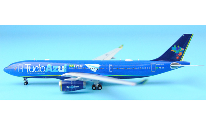 1/400 Model Airplane JC-Wings XX4312 Brasil Tudo Azul Airbus A330-200 PR-AIT Aircraft Diecast Model Collectibles, Scale Model.