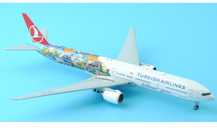 1/400 Model Airplane JC-Wings XX4502 Turkish Airlines Boeing 777-300ER TC-JJU Aircraft Diecast Model Collectibles, Scale Model.