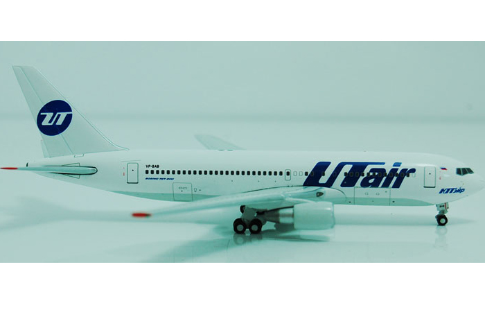 1/400 Model Airplane JC-Wings XX4637 UTair Aviation Boeing B767-200 VP-BAB Aircraft Diecast Model Collectibles, Scale Model.