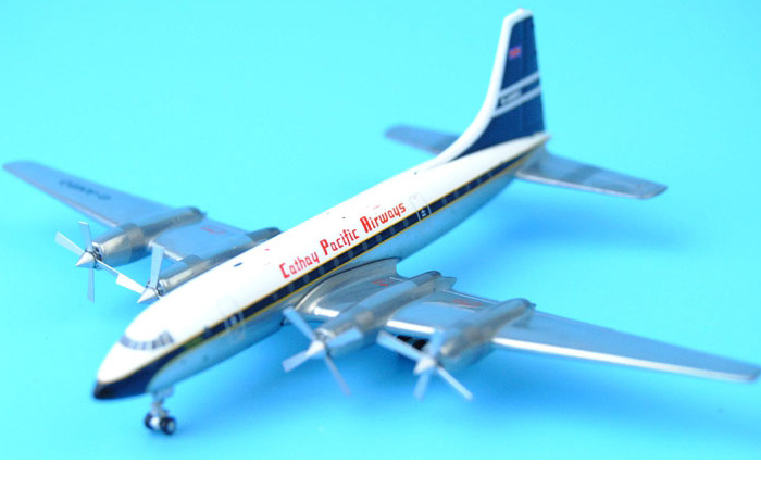 1/400 Model Airplane JC-Wings XX4652 Cathay Pacific Airways Bristol 175 Britannia G-ANB0 Aircraft Diecast Model Collectibles, Scale Model.