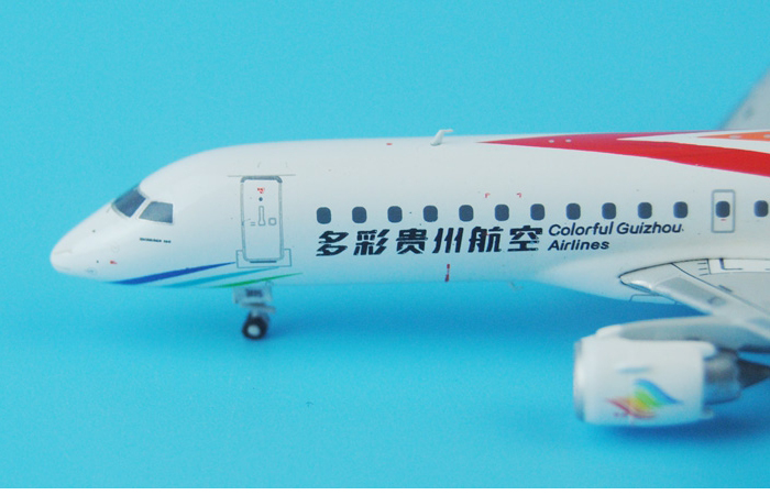1/400 Model Airplane JC-Wings XX4675 Colorful Guizhou ERJ190-100LR Airliner Diecast Model Collectibles, Scale Model.