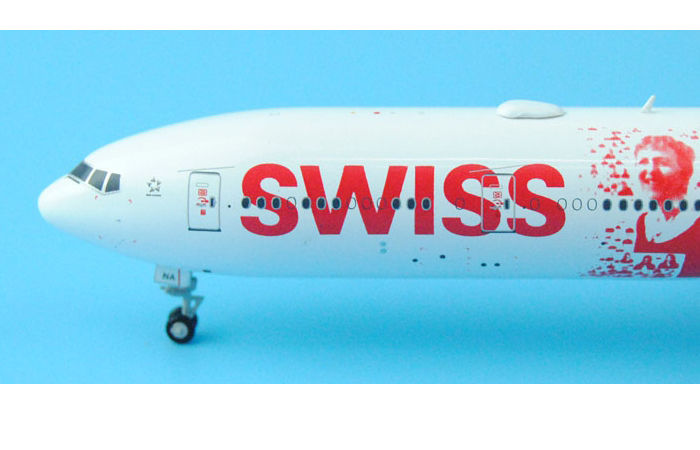 1/400 Model Airplane JC-Wings XX4683 Swiss Airlines People's Plane Boeing 777-300ER HB-JNB Aircraft Diecast Model Collectibles, Scale Model.