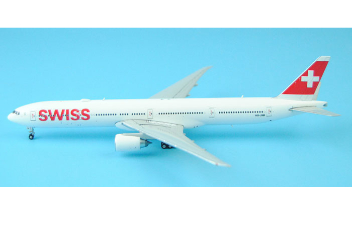 1/400 Model Airplane JC-Wings XX4684 Swiss Airlines Boeing 777-300ER HB-JNB Aircraft Diecast Model Collectibles, Scale Model, Metal Model Plane.
