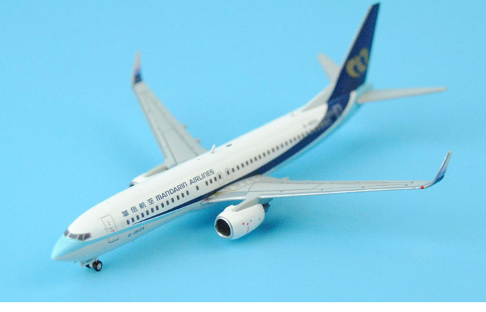1/400 Model Airplane JC-Wings XX4703 Mandarin Airlines Boeing B737-800 B-18659 Aircraft Diecast Model Collectibles, Scale Model.