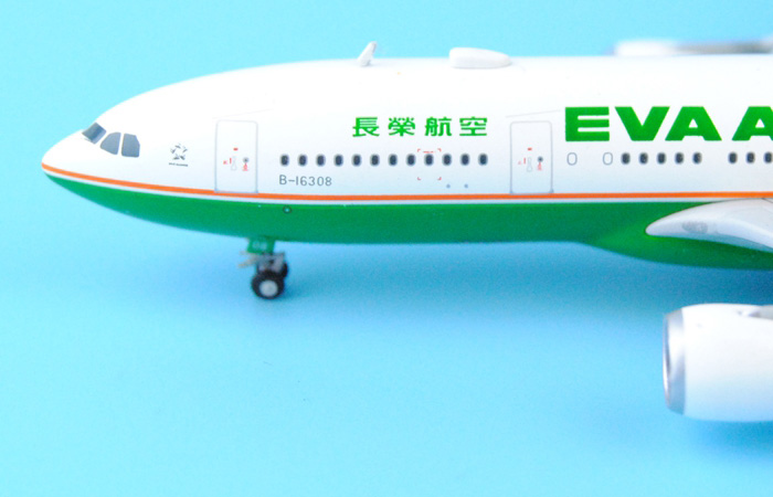 1/400 Model Airplane JC-Wings XX4907 Taiwan EVA Air Airbus A330-200 B-16308 Aircraft Diecast Model Collectibles, Scale Model.