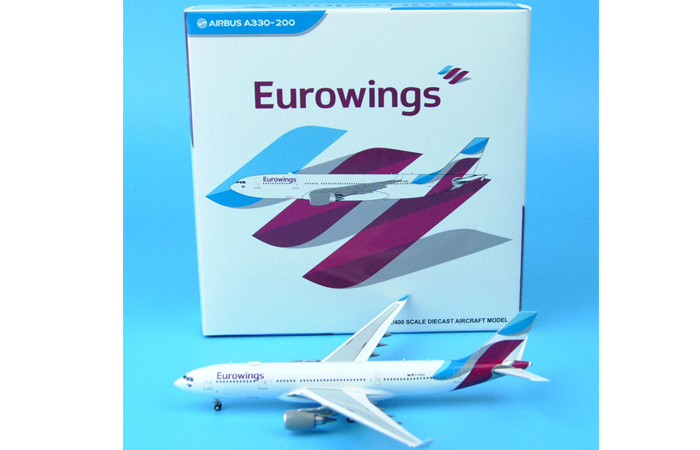 1/400 Model Airplane JC-Wings XX4912 Eurowings Airbus A330-200 D-AXGA Aircraft Diecast Model Collectibles, Scale Model.