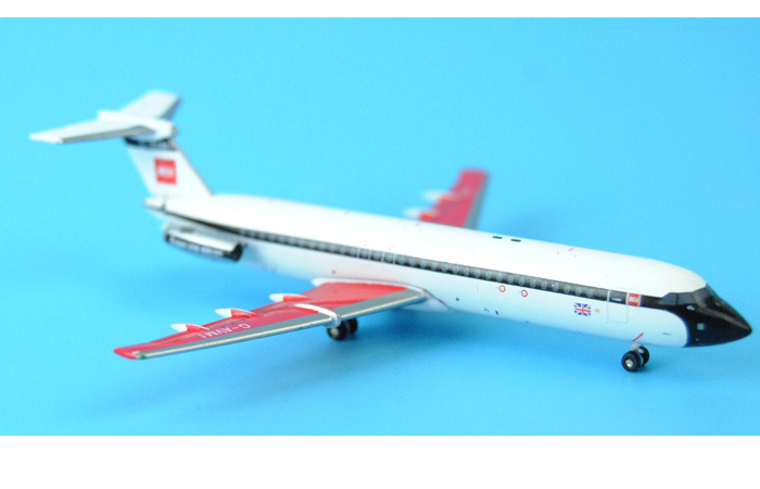 1/400 Model Airplane JC-Wings XX4915 British European Airways BAC 111-510ED Super One-eleven G-AVMI Aircraft Diecast Model Collectibles, Scale Model.