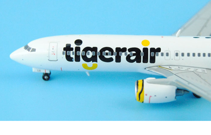 1/400 Model Airplane JC-Wings XX4954 Tiger Airways Boeing B737-800 VH-VUB Aircraft Diecast Model Collectibles, Scale Model.