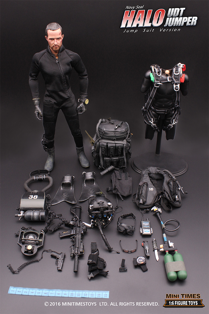 MINI TIMES Toys MT-M004 12 Inch US NAVY SEAL HALO UDT JUMPER soldier Action Figures.