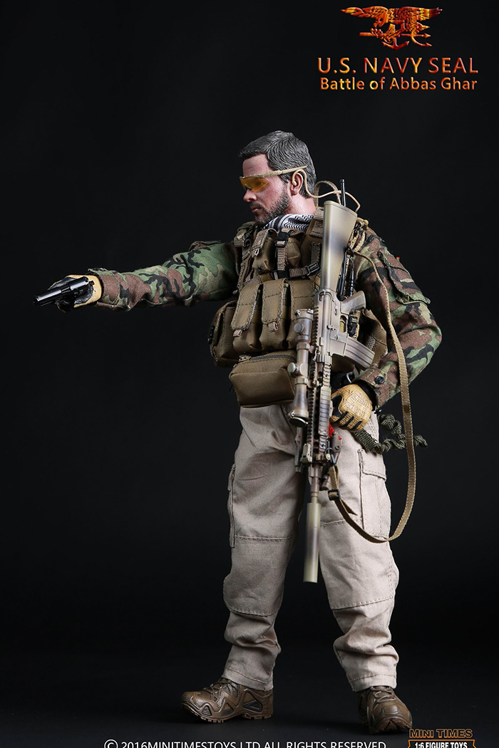 MINI TIMES Toys MT-M005 12 Inch U.S. NAVY SEAL IN THE BATTLE OF ABBAS GHAR soldier Action Figures.
