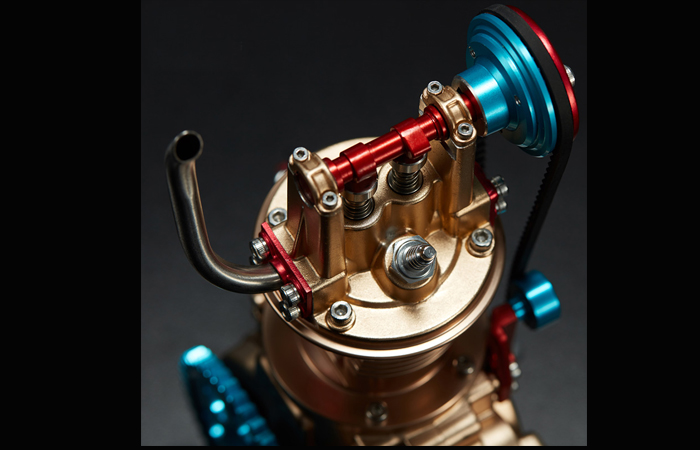 DIY Single OverHead Camshaft Engine Metal Model Kits, Scale Model Educational toys.