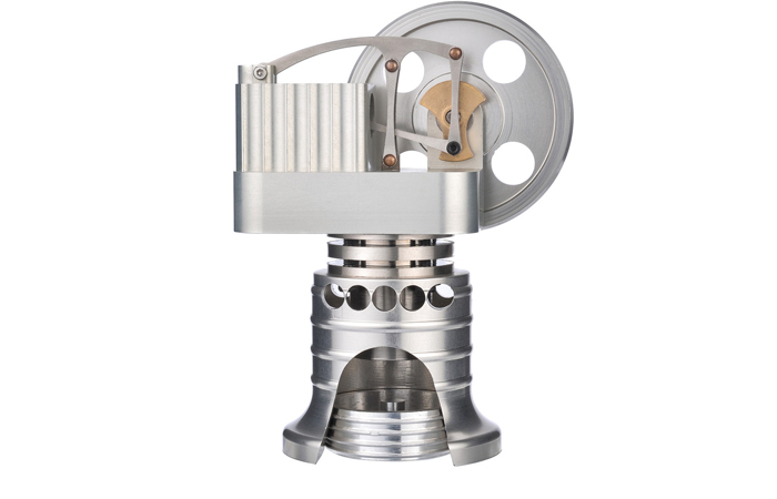 Engine Model, Stirling Engine With Generator, Vertical All-Metal Stirling Engine.