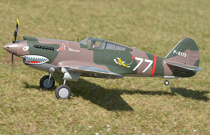 Big scale RC model 6 Channel 2.4Ghz Radio remote control Fixed-wing P-40B Flying Tiger RC plane