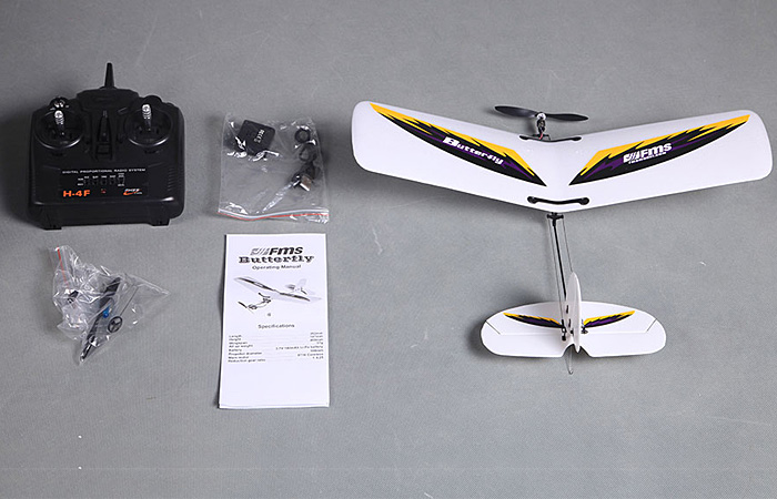 Ready to fly FMS Butterfly 4 Channel Indoor Outdoor Mini RC Plane For Beginner Child
