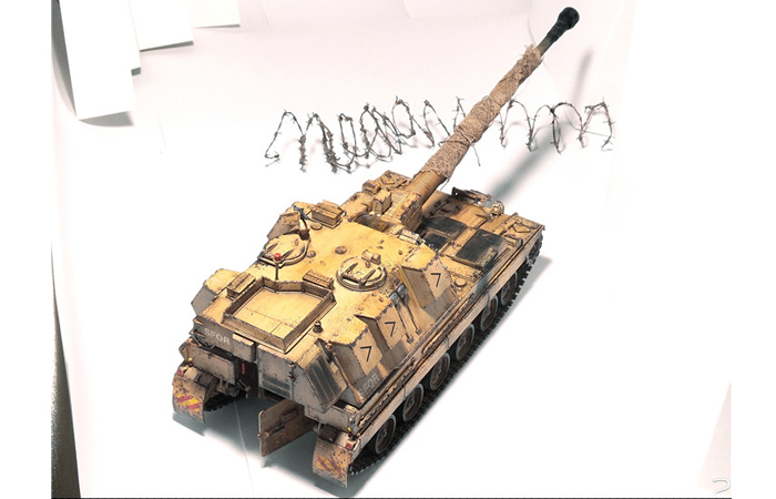 1/35 Scale Trumpet Plastic Model Kit 00324 British 155MM AS-90 Self-Propelled Howitzer.