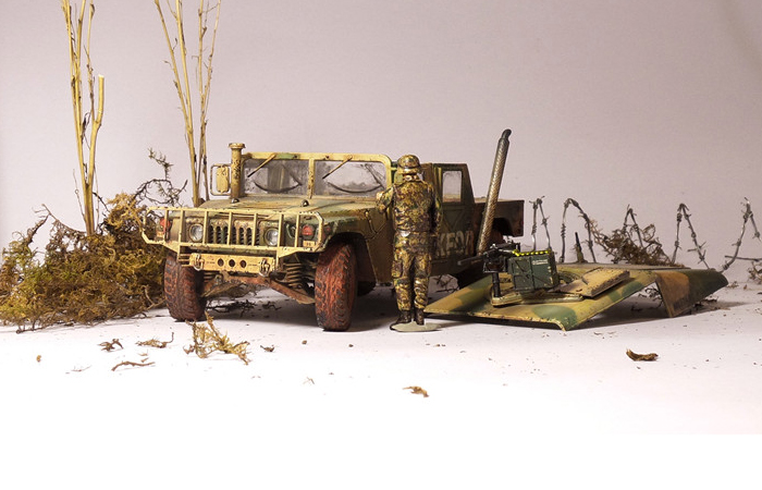 1/35 Scale Model Military Vehicle USA Army Hummer Finished Tamiya Plastic Model Kit.