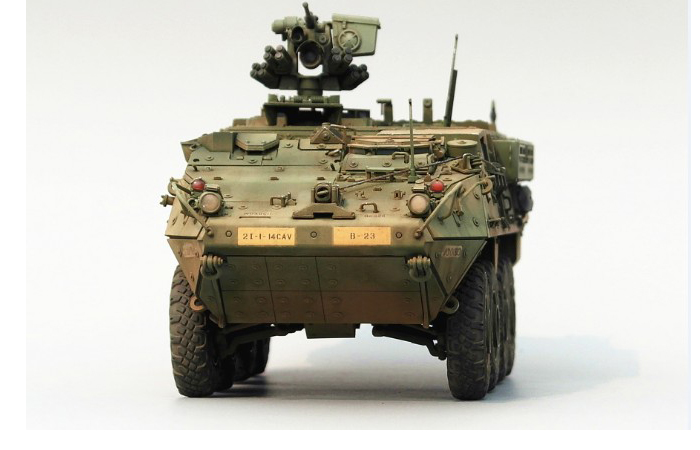 1/35 Scale Model Military Vehicle Finished Model Kit, M1126 Stryker ICV Scale Model.