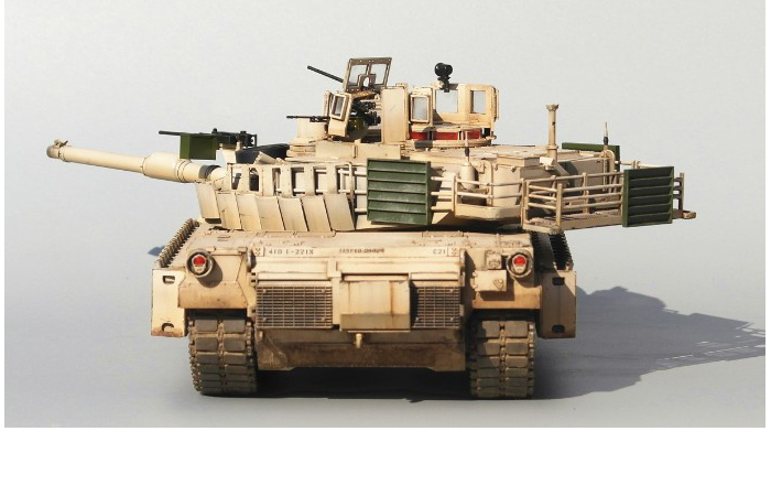 1/35 Scale Model Military Vehicle Finished Tamiya Model Kit, M1A2 SEP Abrams MBT Tank Model.